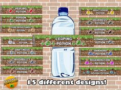 MINECRAFT POTION LABELS   http://partyprintable.weebly.com/  Minecraft printable…