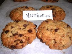 Photo de recette Cookies aux pépites de chocolat et nougatine - Marmiton