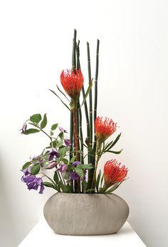Ikebana Paris Maitre art floral japonais, decoration evenementielle, créations épurées et élégantes