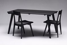 Temperature Design Tomoe Chairs and Table - Black