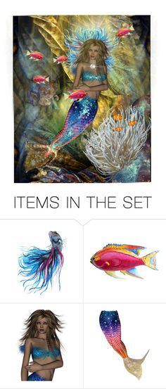 """~Sea Phoenix~"" by reggiano ❤ liked on Polyvore featuring art and 351"