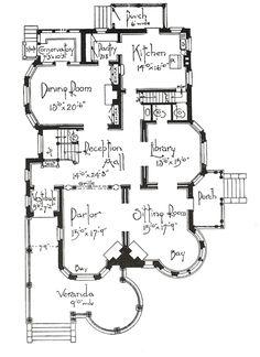 Vintage House Victorian Floor Plans New Ideas Victorian House Plans, Vintage House Plans, Victorian Homes, Stairs Architecture, Victorian Architecture, Architecture Details, Drawing Architecture, Historic Architecture, Chinese Architecture
