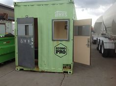 Jetson Green - Campbell River Homeless Hope to Winter in Shipping Containers Small Camper Trailers, Small Campers, Converted Shipping Containers, Container House Design, Tiny House Living, Recreational Vehicles, Building A House, Locker Storage, Homeless Shelters