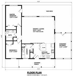 Casa de madeira 2 quartos