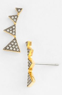 Nadri+Triangle+Stud+Earrings+available+at+#Nordstrom