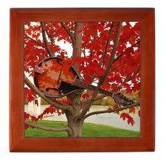 Mandolin in the Red Leaves Keepsake Box ($22.99)