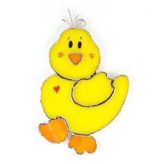 SW219 - Easter Ducky!  how cute!  This Switchables stained glass piece can be used as a night light or a sun catcher!  Take a peek...how sweet  :-)
