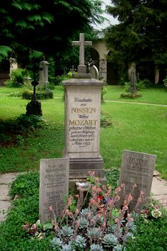 Mozart family plot.  St. Sebastian's Cemetery, Salzburg.  Interestingly, Paracelsus is also buried here.