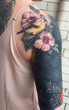 awesome tattoo ideas for women © tattoo artist Esther Garcia 💓🌺🐦💓🌺🐦💓🌺🐦💓🌺🐦💓 Solid Black Tattoo, Black Tattoos, Cool Tattoos, Body Art Tattoos, Female Tattoos, Tatoos, Cover Tattoo, Arm Tattoo, Sleeve Tattoos