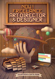 I'm Freelancer! by Santiago Zoraidez, via Behance