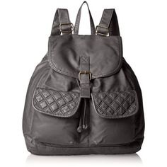 T-Shirt & Jeans Quilted-Pocket Fashion Backpack (€37) ❤ liked on Polyvore featuring bags, backpacks, quilted backpack, pocket bag, knapsack bags, backpacks bags and rucksack bag