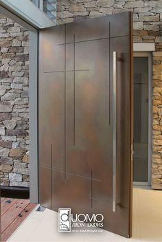Wrought Iron Doors in The Woodlands and Greater Houston Area TX Modern Entrance Door, Entrance Design, Modern Door, Flat Interior Design, Showroom Interior Design, House Gate Design, Room Door Design, Double Doors Exterior, Wooden Main Door Design