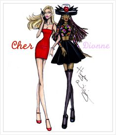Hayden Williams Fashion Illustrations: Clueless collection by Hayden Williams: Cher & Dee Absolutely love this film! Hayden Williams, Clueless Outfits, Clueless Fashion, Clueless 1995, Fashion Design Drawings, Fashion Sketches, Fashion Illustrations, Dress Sketches, Fashion Sketchbook