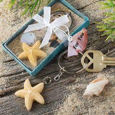 Beach Keychain Starfish Favors $2.10