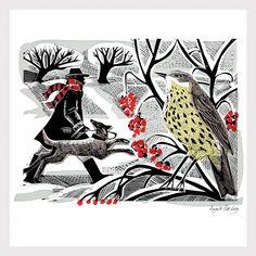 Winter Thrush by Angela Harding