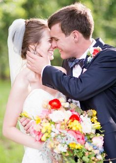 Adorably sweet couple shot by Ely Fair Photography. Bouquet by Trochta's Flowers and Garden Center. #wedding #cutecouple #photography