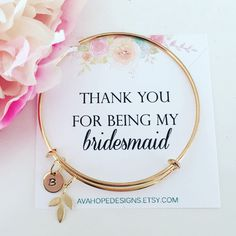 A personal favorite from my Etsy shop https://www.etsy.com/listing/497359960/gold-bracelet-initial-bangle-bracelet