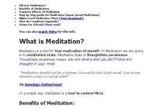 Meditation Thought4you.com Meditation Steps, What Is Meditation, Meditation Benefits, Meditation Music, How Do I Meditate, Step Guide, Spirituality, Thoughts, Reading