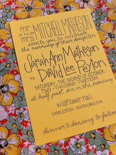Calligraphy Wedding Invitations by GreySnailPress