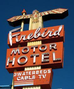 Firebird Motor Hotel - Cheyenne, Wyoming - Vintage Neon Sign This was my parents Motel.