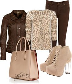 """""""Brown and Leopard Outfit !"""" by stylisheve on Polyvore"""