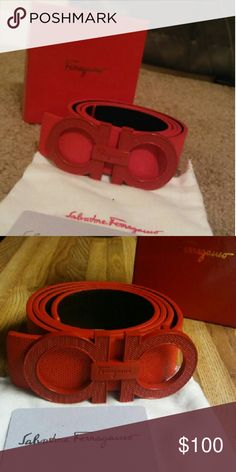 Red Ferragamo belt New comes in the box its top quality. Burberry Men, Gucci Men, Body Jewelry Shop, Men's Jewelry, Versace Sneakers, Hermes Belt, Designer Belts, Cowgirl Style, Watches For Men