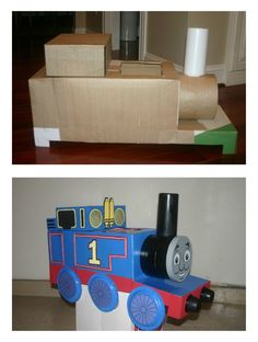 Homemade Thomas Costume - gotta do this for P