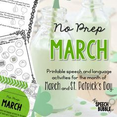 Want to use cute, seasonally themed activities but have no time to prep them all? This packet has 40+ pages of March/ St. Patrick's Day themed pages to help save you time and bring the holiday into your room! This packet contains the following activities 4-5: March/St. Patrick's Day themed board g...