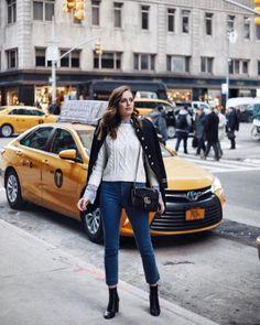 Winston and Willow, NYC Street Style, Veronica Beard Surrey Sweater & Gia Kick Flare