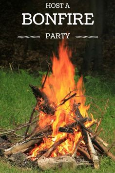 How to host a bonfire party -- everything you need to know for a fall party that your guests will love!