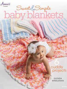 Maggie's Crochet · Sweet & Simple Baby Blankets/ 6 adorable little blankies for baby/ easy/ CROCHET pattern