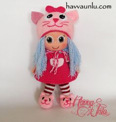 PATTERN  Cat Doll crochet amigurumi por HavvaDesigns en Etsy, $11.50