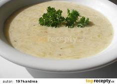 Cuketová kyselice recept - TopRecepty.cz Palak Paneer, Cheeseburger Chowder, Mashed Potatoes, Soup, Ethnic Recipes, Hummus, Author, Whipped Potatoes, Smash Potatoes