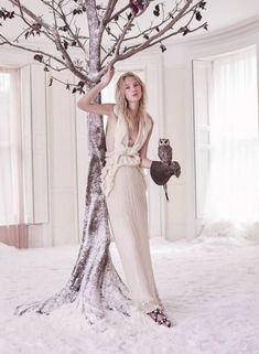 Nastya Sten in Givenchy by Richard Tisci haute couture photographed by Agata Pospieszynska for Harper's Bazaar UK, January 2017 Editorial Photography, Amazing Photography, Fashion Photography, Photography Ideas, Forest Photography, New Fashion, Trendy Fashion, Fashion Models, Fantasy Fashion