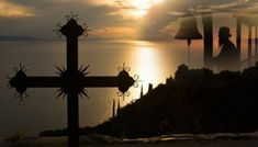 Cross at sunset (Mount Athos, Greece) by Yiannis Papadimitriou / Kai, The Holy Mountain, Kirchen, World Heritage Sites, Where To Go, Documentaries, Sunrise, Outdoor, Macedonia Greece