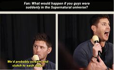 [SET OF GIFS] Jensen and Jared panel at Dallas convention