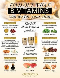 B Vitamins for Your Skin by OROGOLD Cosmetics