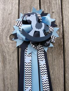 rocking horse baby shower by bonbow on Etsy
