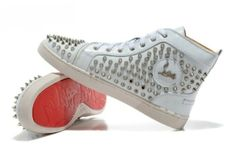 Christian Louboutin white spike via Luxury store. Click on the image to see more!