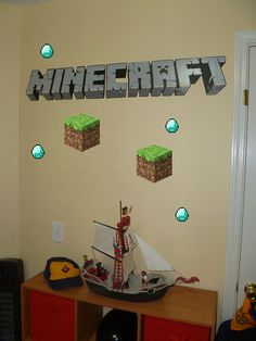 Vinyl Minecraft Wall Decal by Claudine28 on Etsy, $44.99