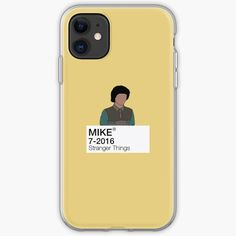 'Mike Wheeler - Stranger Things' iPhone Case by fictiophilia Sell Your Art, Stranger Things, Iphone Case Covers, Cover Design, Iphone 11, It Works, Smartphone, Card Making, Type