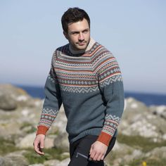 Bo genser til herre Best Suits For Men, Cool Suits, Mens Suits, Knitting Projects, Norway, Vikings, Men Sweater, Mens Fashion, Boys