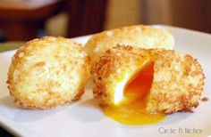 Panko-Crusted Fried Soft-Boiled Eggs - Circle B Kitchen - Circle B Kitchen dishes Panko-Crusted Fried Soft-Boiled Eggs Brunch, Deep Fried Egg, Fried Eggs, Breakfast Items, Breakfast Recipes, Egg Recipes, Cooking Recipes, Pancake Recipes, Salads