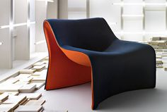 fauteuil design organique 181 CLOTH by Markus Jehs e Juergen Laub Cassina