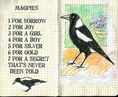 My Grandmother used to say this about crows! Except she said one crow sorrow, two crows joy! Three crows a letter, four crows a boy! :)