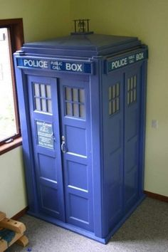 I'm going to make a TARDIS door linking my kids room with a play room!