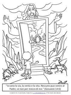 Versetti della Bibbia per Bambini - Giovanni 14:6 Bible Activities For Kids, Bible Resources, Sunday School Activities, Bible For Kids, Faith Crafts, Bible Crafts, Images Bible, Jesus Teachings, Child Sponsorship