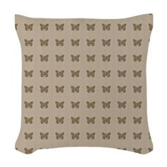 Chic Gold Butterfly Pattern Woven Throw Pillow