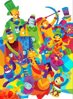 Backer Design ilustração Carnaval de Pernambuco