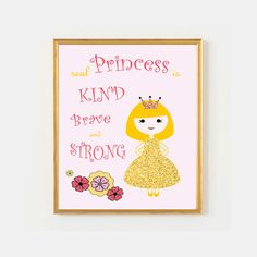 Pink and Gold nursery decor - Whimsical princess Glitter and Sparkle Wall Print by VigiCreativeStudio